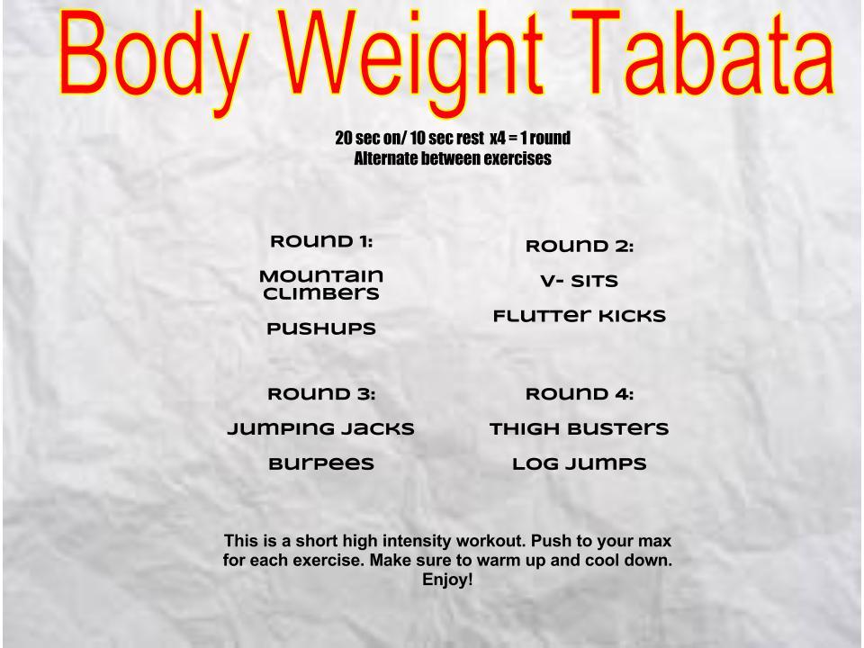 7 day fat burning workout plan