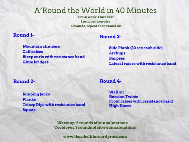 A'round the World in 40 Minutes