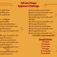 Fall into Fitness- Beginner's Challenge