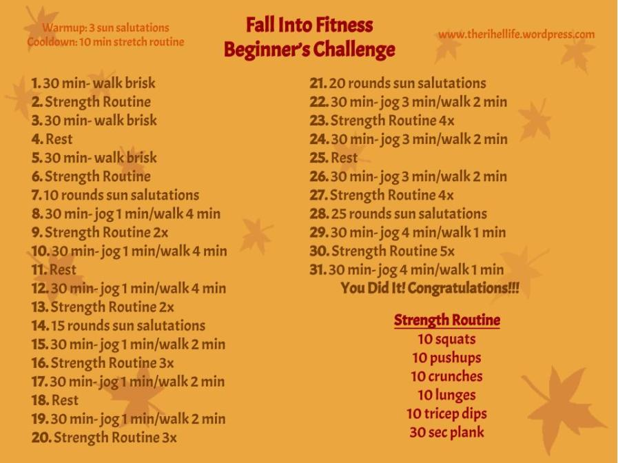 Fall into Fitness- October Challenge (2)