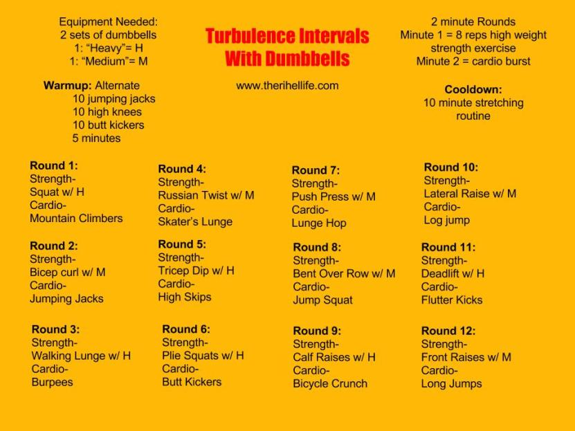 Turbulence Dumbell Workout