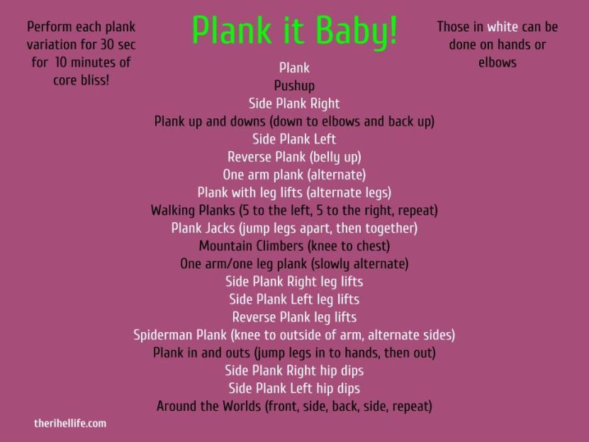 Plank It Baby