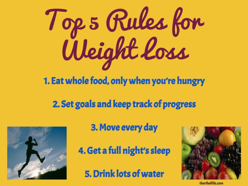 Top 5 Rules for Weightloss (2)