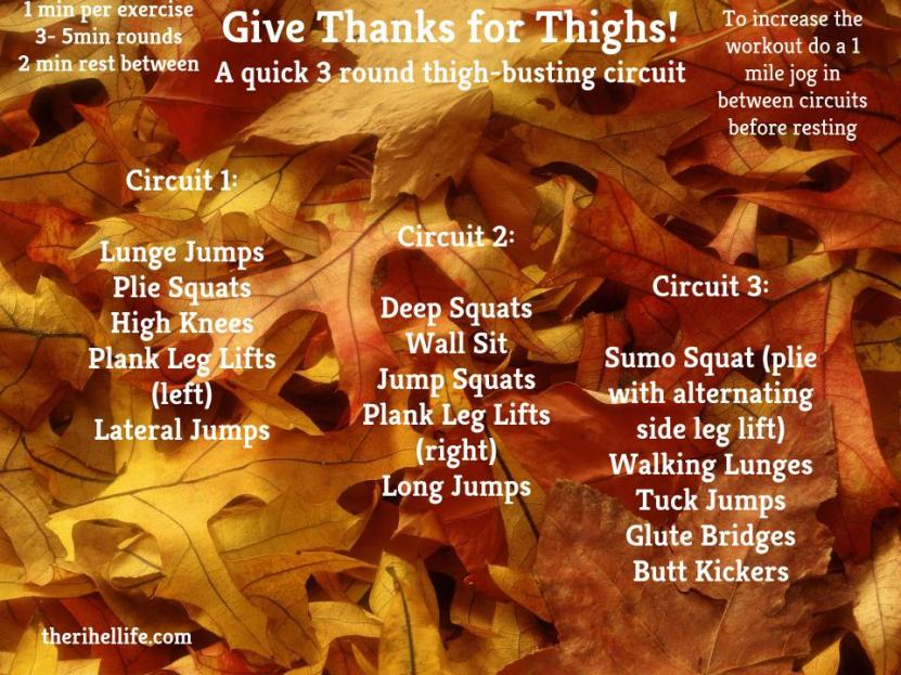 Workout Wednesday- Give Thanks for Thighs