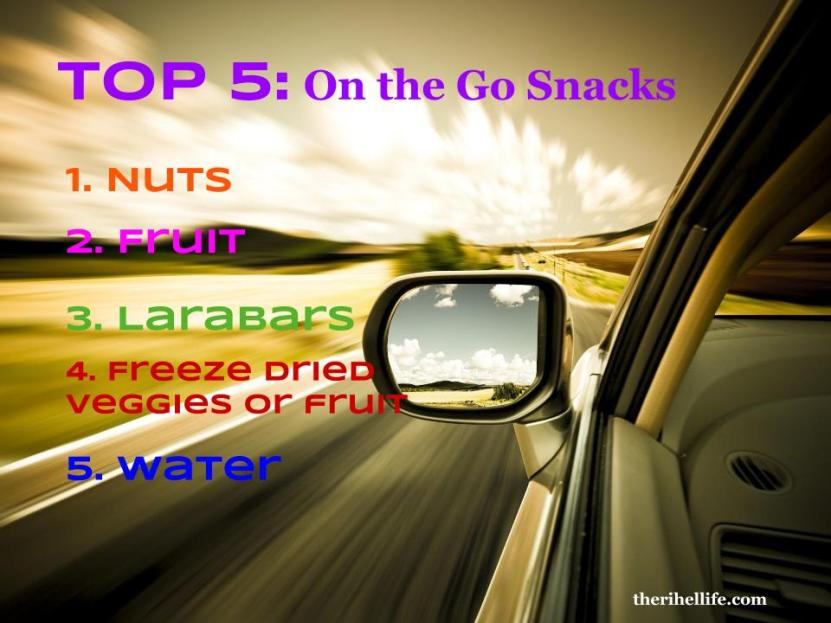 Top 5- On the Go Snacks