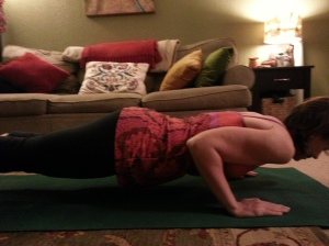 Plank Hold: Exhale/Inhale Chataranga (lower down): Exhale