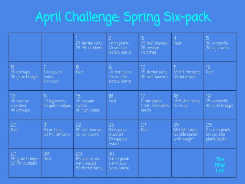 April Challenge- Spring Six-pack