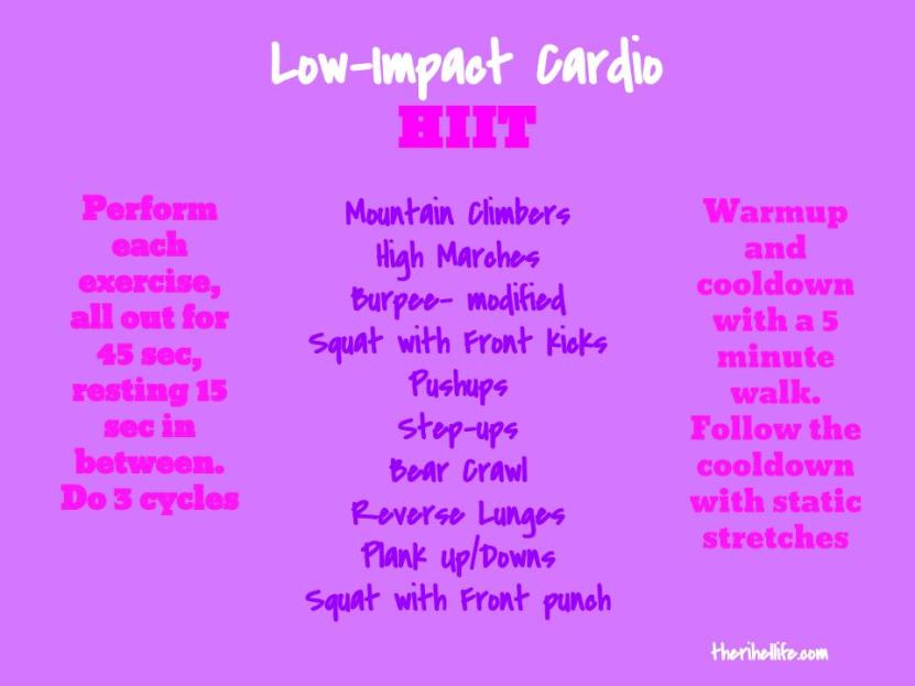 Low Impact Cardio HIIT