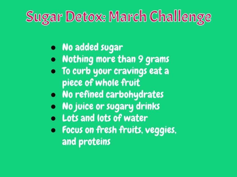 March Challenge- Sugar Detox (2)