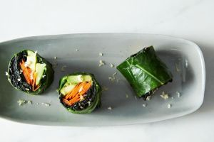 Collard Roll Ups with Coconut Curry Kale from Food 52... say that ten times fast. :)