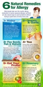 A sweet infograph with 6 ideas to naturally help this allergy season
