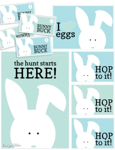 Free Egg Hunt Printables from designeditor.typepad.com. Love the Bunny Bucks!