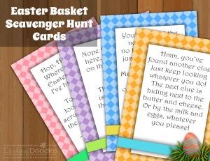 Easter Basket Scavenger Hunt from DarlingDoodlesDesign.com