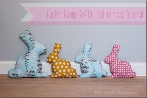 So much cuter than a chocolate bunny! And handmade- love it. From craftycupboard.net