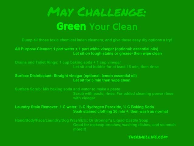 May Challenge- Green Your Clean
