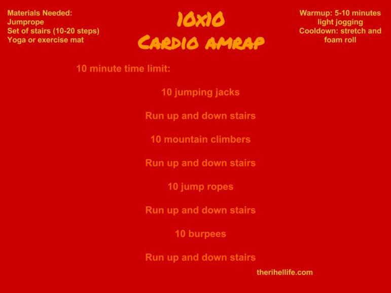 10x10 Cardio Amrap