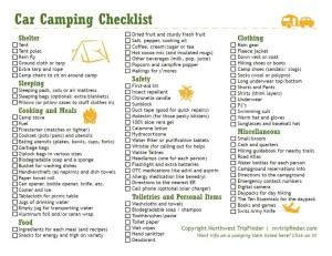 Such a great list of Must-Haves for Car Camping!  from www.nwtripfinder.com