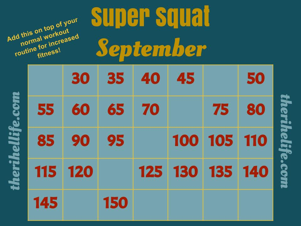 Super Squat September Challenge